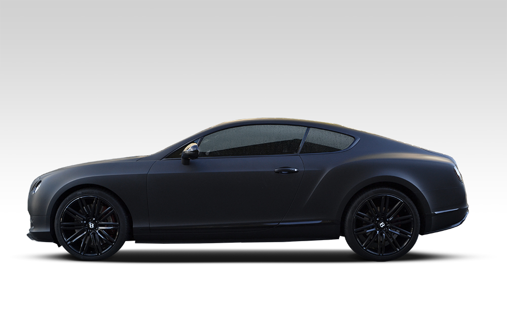 Matte Black Wrap For Bentley Continental Gt Reforma Uk