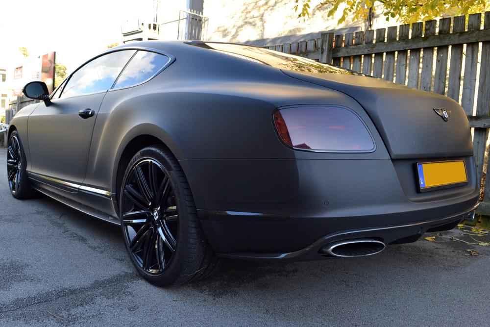 Bentley Continental Gt Matte Black Rear on White Bentley Continental Gt
