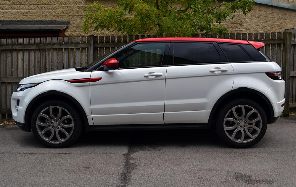 Range Rover Evoque Kandy Red Detailing - Reforma UK