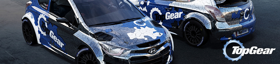 Top Gear Rally Car Design Banner