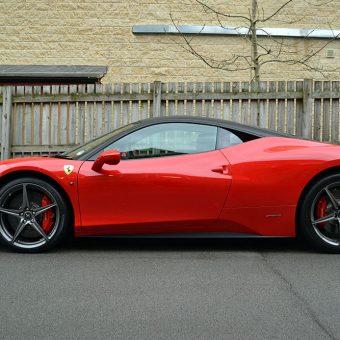 Ferrari 458 Carbon Roof Repair Side