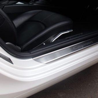 Porsche Cayman Pearl White Door Shut