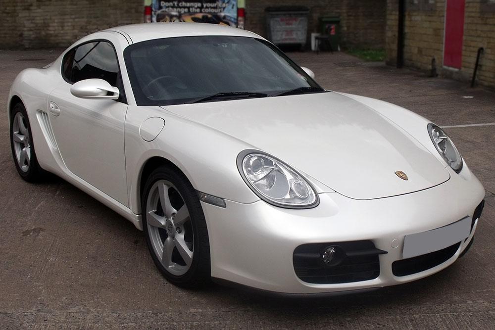 Porsche Cayman Pearl White