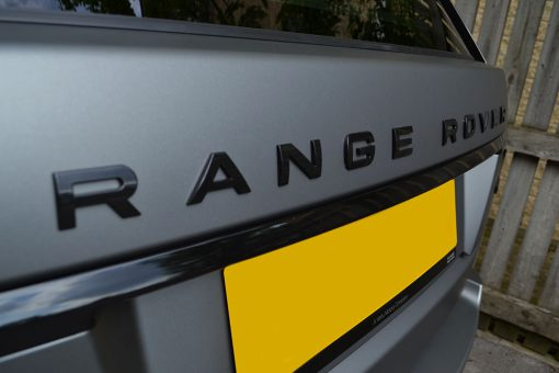 Range Rover Vogue Matte Grey Badges