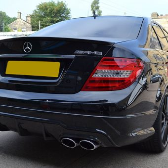 Mercedes C63 AMG Carbon Rear Angled