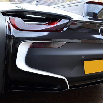 BMW i8 Wrapped Matte Black Detailing