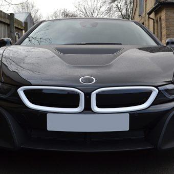BMW i8 Wrapped Matte Black Front