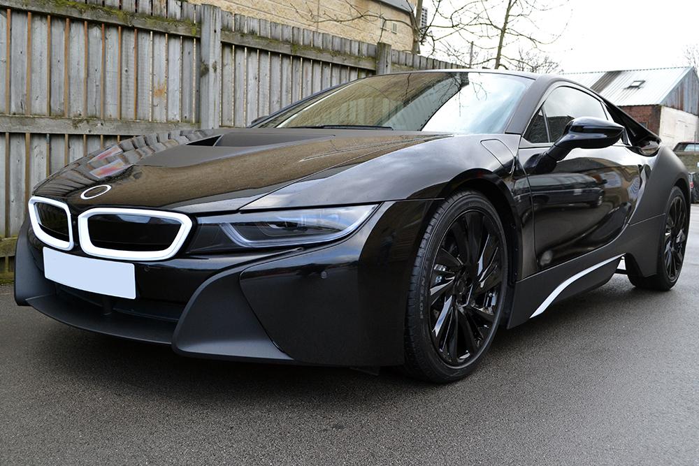 BMW I8 Wheels >> BMW i8 Matte Black Wrap - Reforma UK