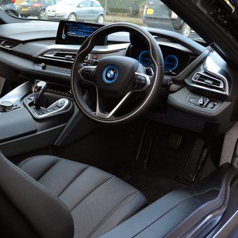 BMW i8 Wrapped Matte Black Interior