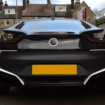 BMW i8 Wrapped Matte Black Rear
