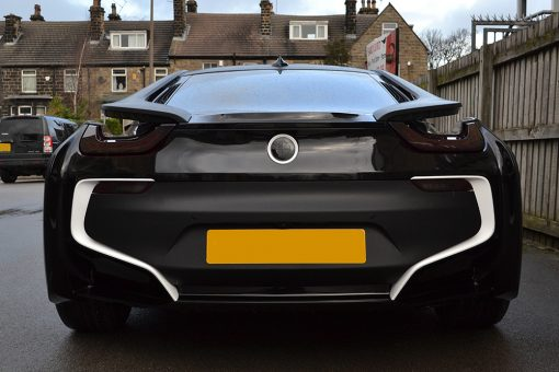 BMW i8 Wrapped Matte Black Rear