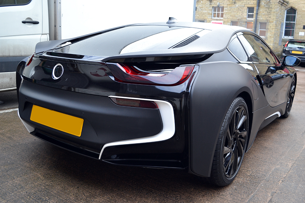 Bmw I8 Matte Black Wrap Reforma Uk