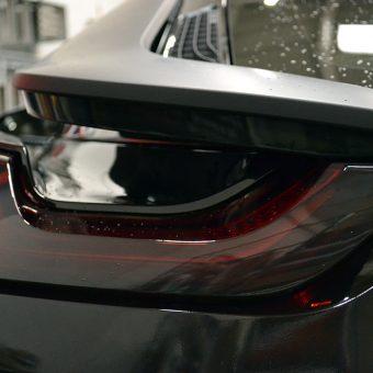BMW i8 Wrapped Matte Black Rear Light