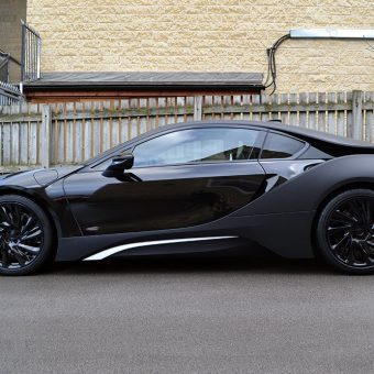 BMW i8 Wrapped Matte Black Side