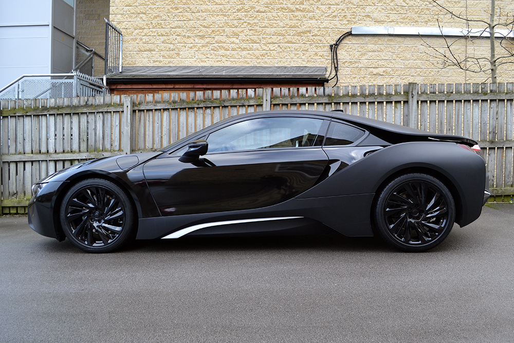 Chrome Car Wrap >> BMW i8 Matte Black Wrap - Reforma UK