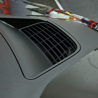BMW i8 Wrapped Matte Black Vent