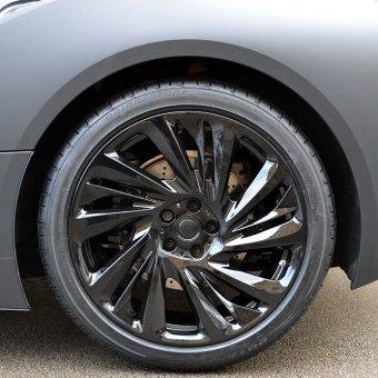 BMW i8 Wrapped Matte Black Wheel