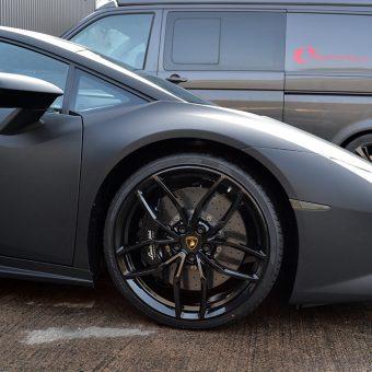 Lamborghini Huracan Matte Black Front Corner