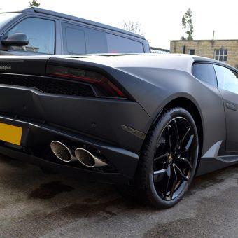 Lamborghini Huracan Matte Black Rear