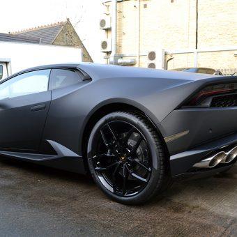 Lamborghini Huracan Matte Black Rear Angle