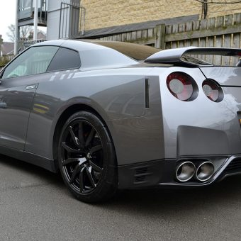 Nissan GT R Graphics Carbon Rear Angle