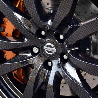 Nissan GT R Graphics Carbon Wheel Close
