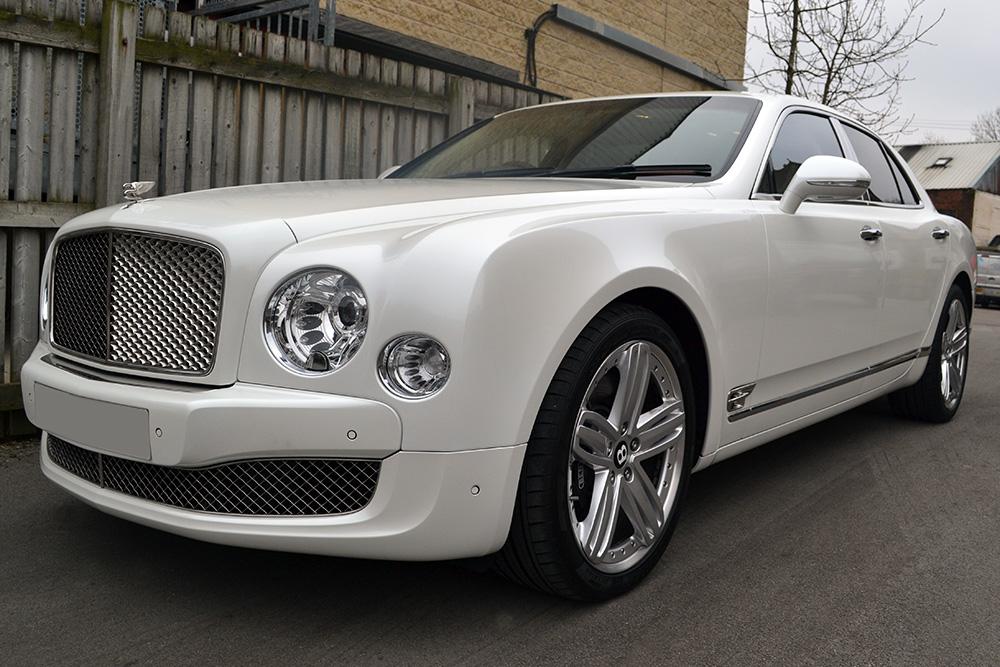 Bentley Mulsanne Full Wrap In Pearl White Reforma Uk