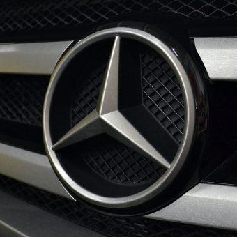 Mercedes GL63 AMG Brushed Aluminium Badge Front