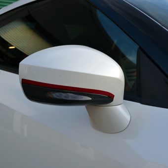 Nissan GTR White Carbon Nismo Red Mirror