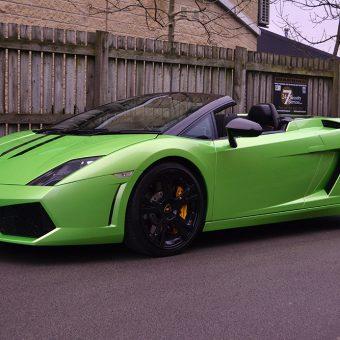 Lamborghini Gallardo Lime Green Front Angle