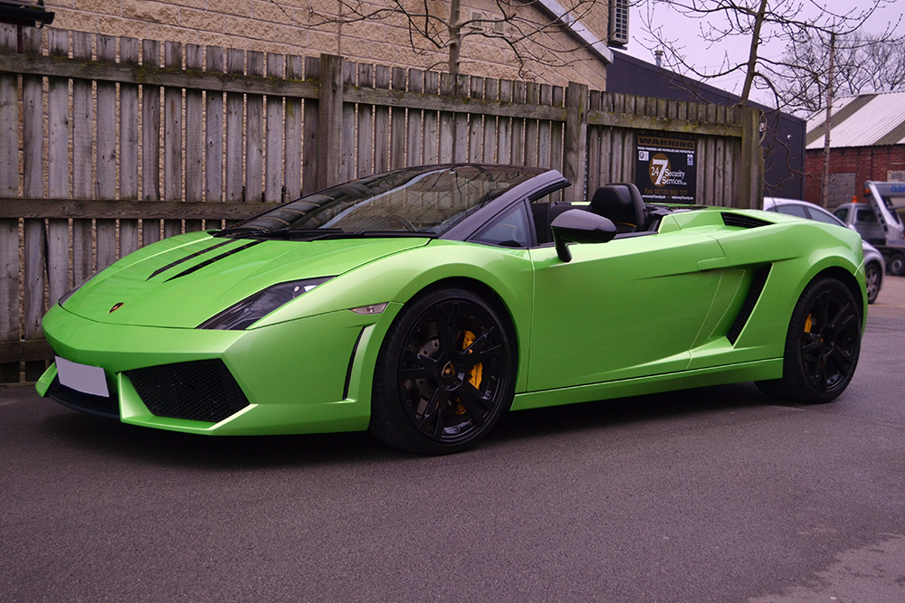 Captivating Lamborghini Gallardo Lime Green Front Angle