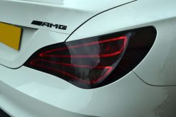 Mercedes CLA Gloss Black Badges Rear Light