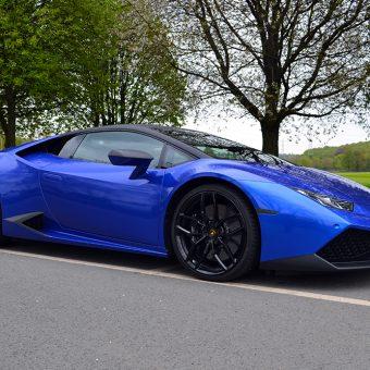 Lamborghini Huracan 3M Cosmic Blue Front
