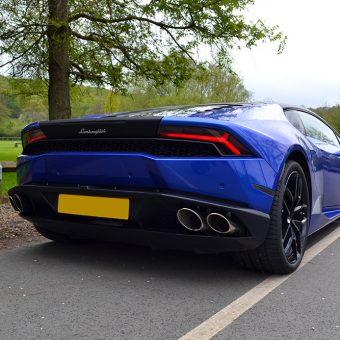 Lamborghini Huracan 3M Cosmic Blue Rear