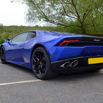Lamborghini Huracan 3M Cosmic Blue Rear Angled