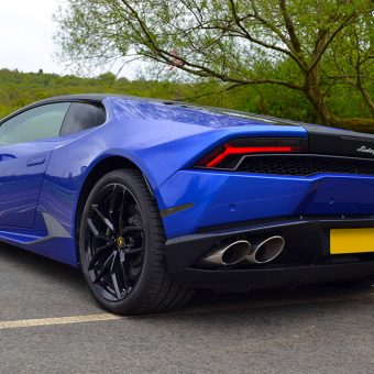 Lamborghini Huracan 3M Cosmic Blue Rear Beautiful