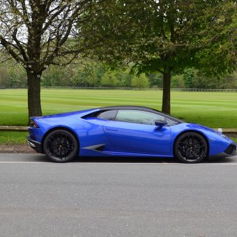 Lamborghini Huracan 3M Cosmic Blue Side