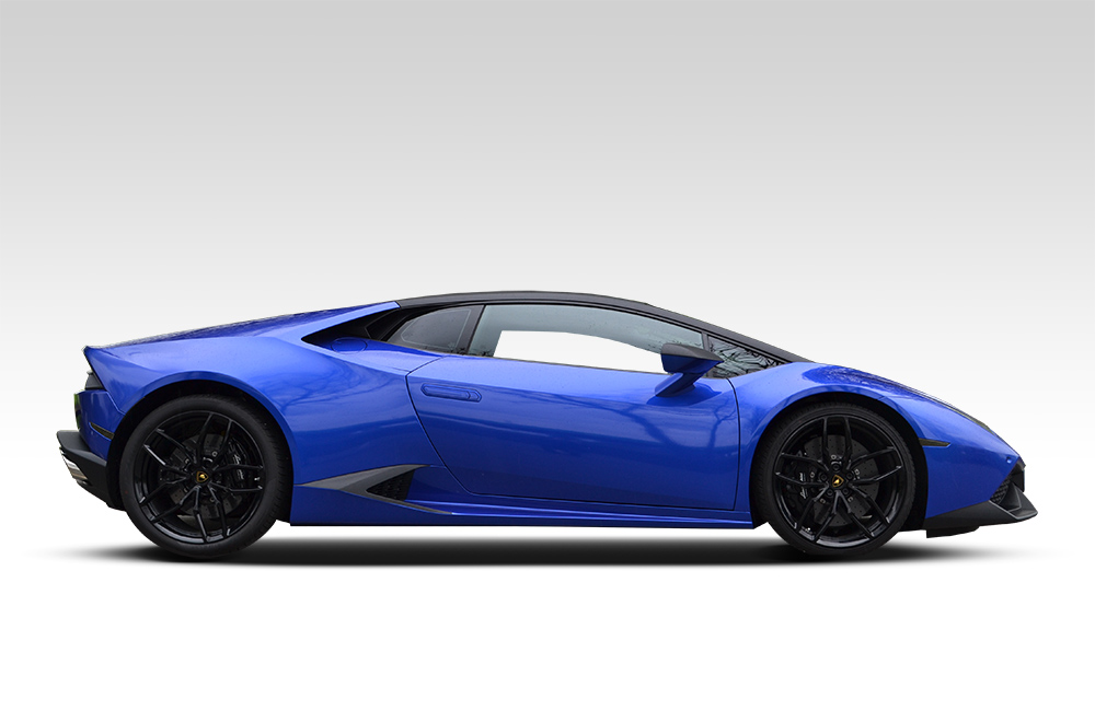 After-Lamborghini Huracan in Cosmic Blue