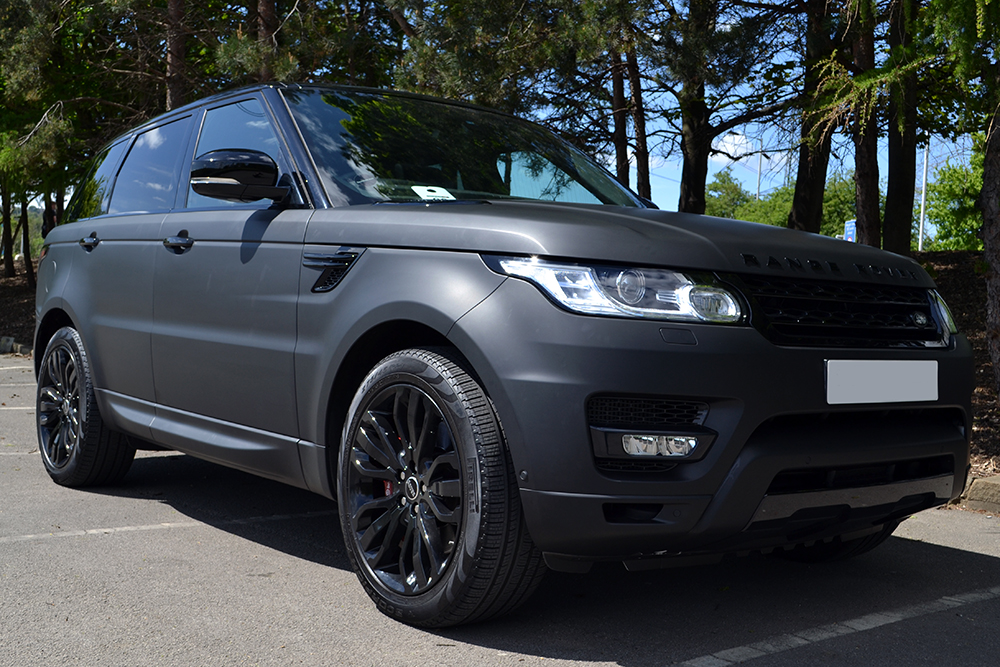 Land Rover Evoque >> Range Rover Sport Matte Black Wrap - Reforma UK