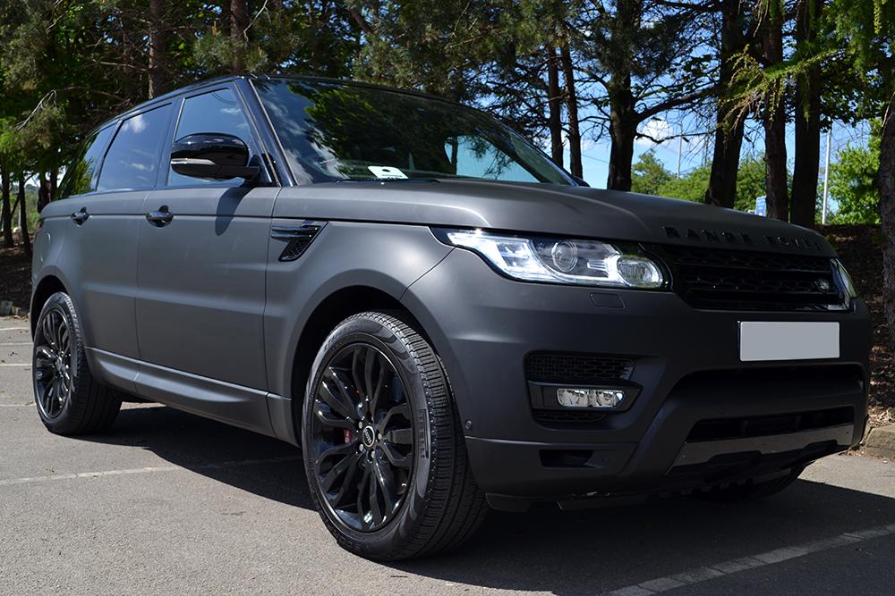range rover sport matte black wrap reforma uk. Black Bedroom Furniture Sets. Home Design Ideas