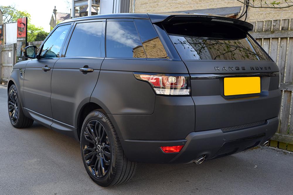 Range Rover Sport Matte Black Wrap Reforma Uk
