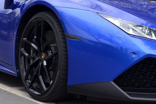 Lamborghini Huracan 3M Cosmic Blue Light Tints Front