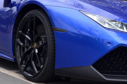 Lamborghini Huracan 3M Cosmic Blue Light Tints Front