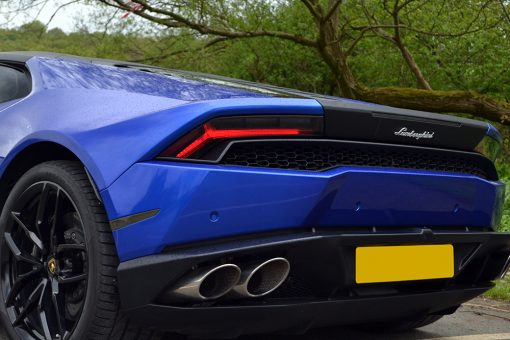 Lamborghini Huracan 3M Cosmic Blue Light Tints Rear