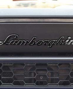 Lamborghini Huracan Badges Black Chrome