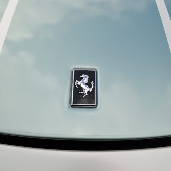 Ferrari 360 Satin Pearl Bonnet Badge