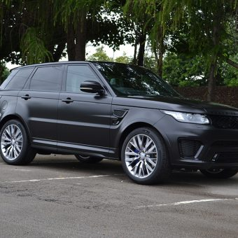 Range Rover Sport SVR Satin Black Angled