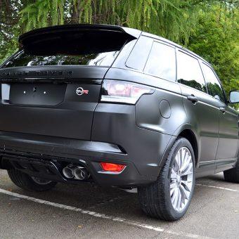 Range Rover Sport SVR Satin Black Rear Angled