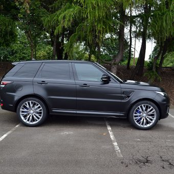 Range Rover Sport SVR Satin Black Side