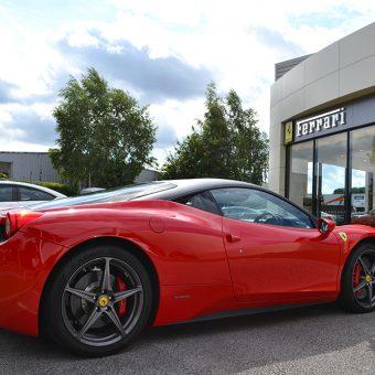 Ferrari 458 Matte Black Roof Wrap Rear